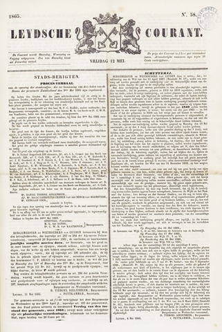 Leydse Courant 1865-05-12