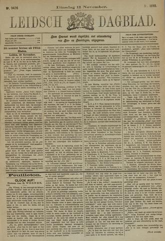 Leidsch Dagblad 1890-11-11
