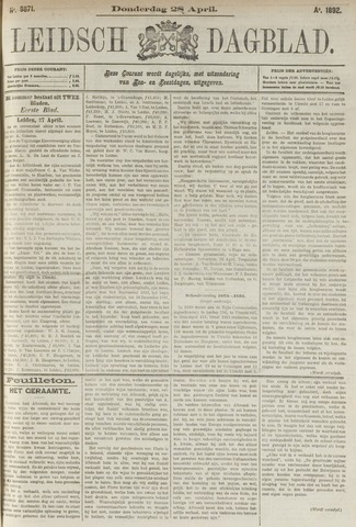 Leidsch Dagblad 1892-04-28