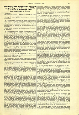 Handelingen van de Raad 1927-12-09