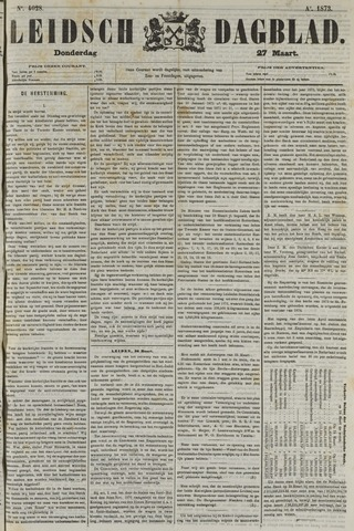Leidsch Dagblad 1873-03-27