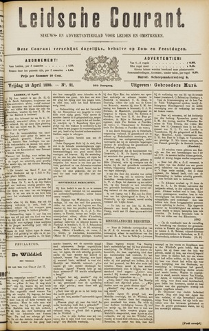 Leydse Courant 1890-04-18