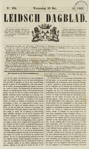 Leidsch Dagblad 1863-05-20