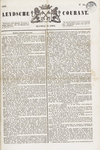 Leydse Courant 1865-04-10