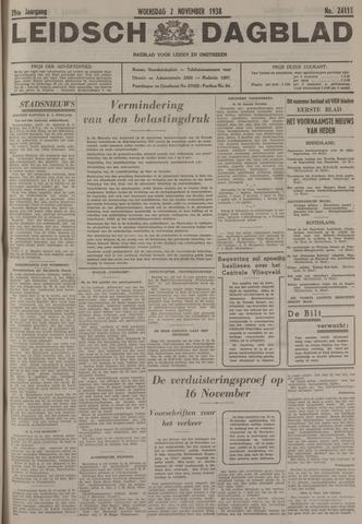 Leidsch Dagblad 1938-11-02