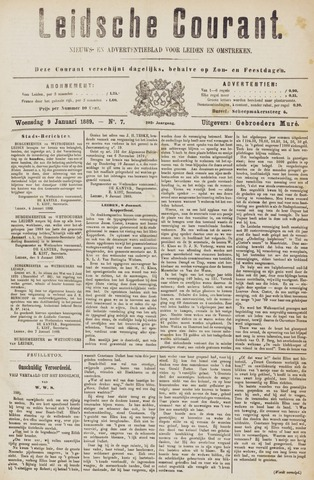 Leydse Courant 1889-01-09