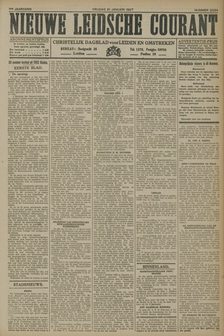 Nieuwe Leidsche Courant 1927-01-21