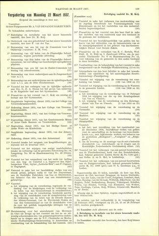 Handelingen van de Raad 1937-03-22