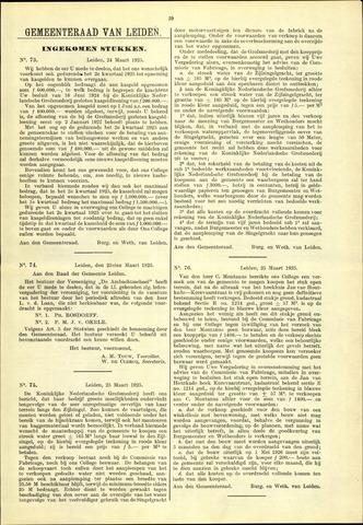 Handelingen van de Raad 1925-03-24