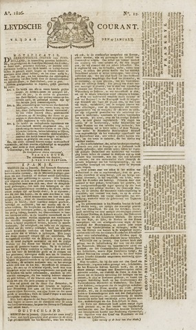 Leydse Courant 1826-01-27