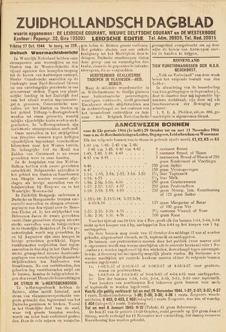Zuidhollandsch Dagblad 1944-10-27