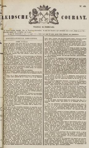 Leydse Courant 1885-02-20