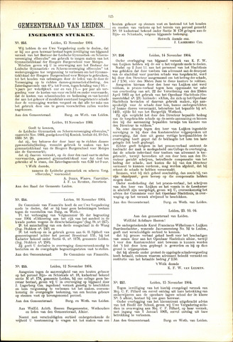 Handelingen van de Raad 1904-11-15