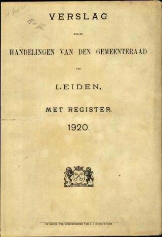 Handelingen van de Raad 1920-01-01