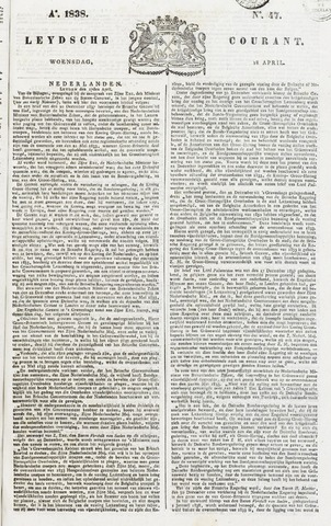 Leydse Courant 1838-04-18
