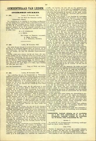 Handelingen van de Raad 1921-11-17