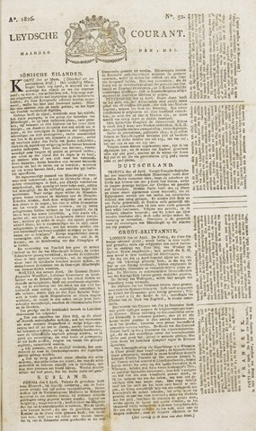 Leydse Courant 1826-05-01