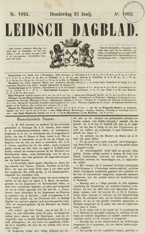 Leidsch Dagblad 1863-06-25