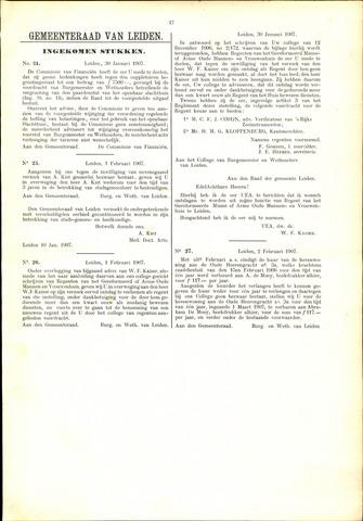 Handelingen van de Raad 1907-01-30
