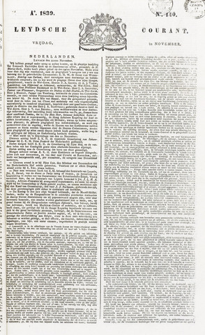 Leydse Courant 1839-11-22