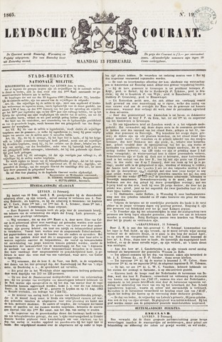 Leydse Courant 1865-02-13