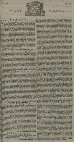 Leydse Courant 1734-04-30