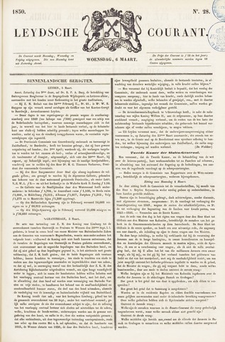 Leydse Courant 1850-03-06