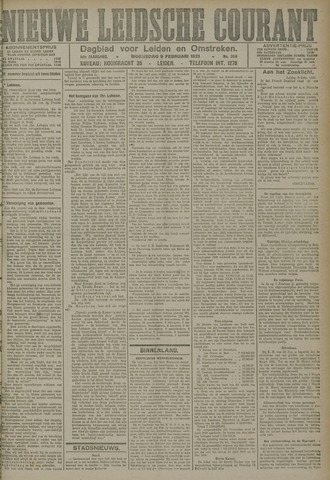 Nieuwe Leidsche Courant 1921-02-09