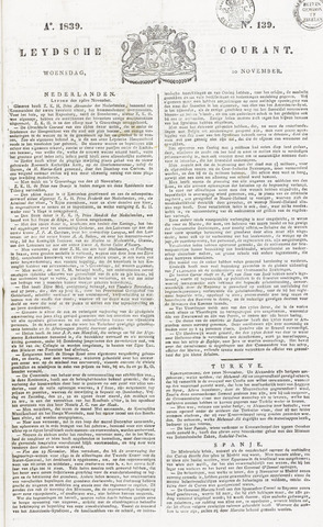 Leydse Courant 1839-11-20