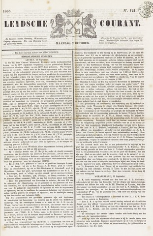 Leydse Courant 1865-10-02