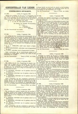 Handelingen van de Raad 1906-08-31
