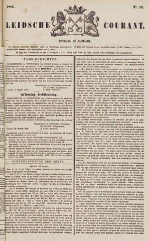Leydse Courant 1885-01-27