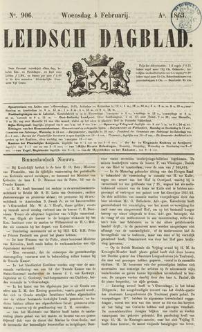 Leidsch Dagblad 1863-02-04