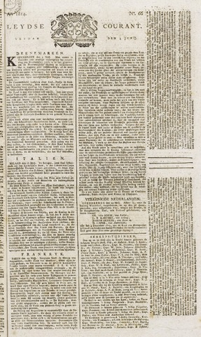 Leydse Courant 1814-06-03