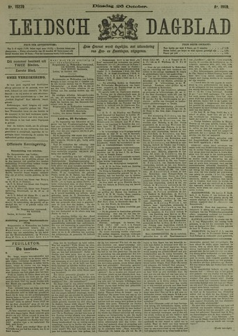 Leidsch Dagblad 1909-10-26