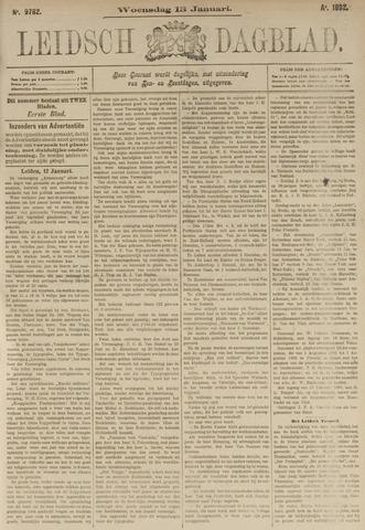 Leidsch Dagblad 1892-01-13