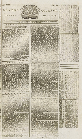 Leydse Courant 1822-01-25