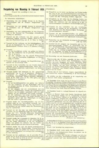 Handelingen van de Raad 1938-02-14