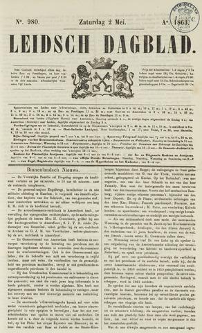 Leidsch Dagblad 1863-05-02