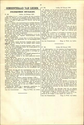 Handelingen van de Raad 1910-02-22