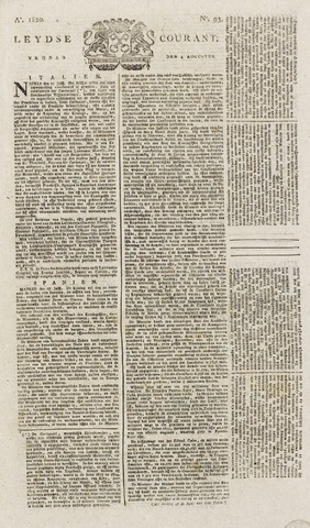 Leydse Courant 1820-08-04