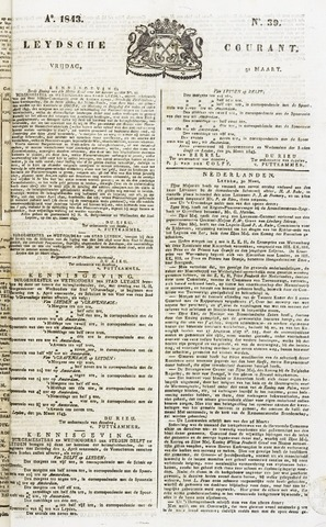 Leydse Courant 1843-03-31