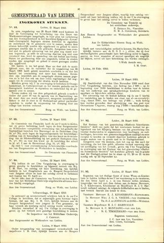 Handelingen van de Raad 1910-03-21