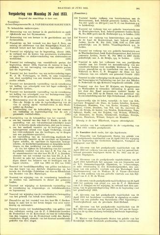 Handelingen van de Raad 1933-06-26