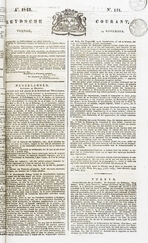Leydse Courant 1843-11-24