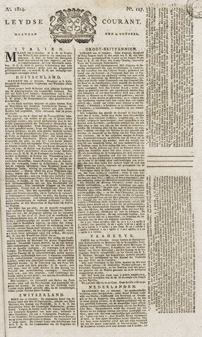 Leydse Courant 1814-10-24