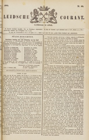 Leydse Courant 1884-04-19