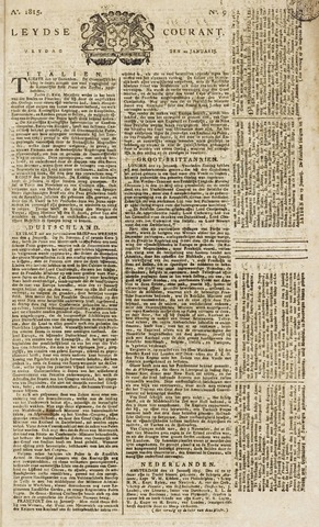 Leydse Courant 1815-01-20