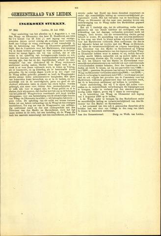Handelingen van de Raad 1920-07-21