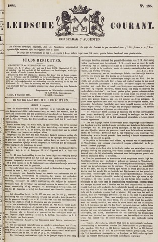 Leydse Courant 1884-08-07